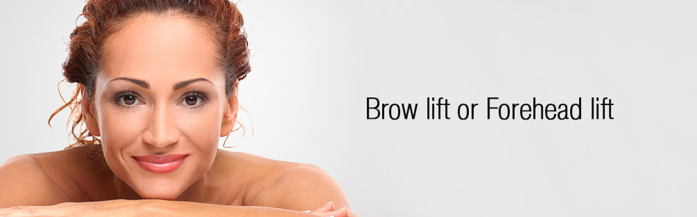 Brow lift or Forehead lift dubai